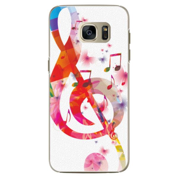Plastové pouzdro iSaprio - Love Music - Samsung Galaxy S7 Edge