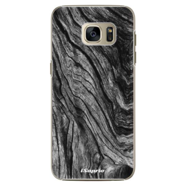 Plastové pouzdro iSaprio - Burned Wood - Samsung Galaxy S7 Edge