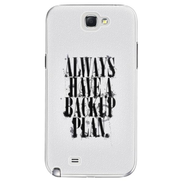 Plastové pouzdro iSaprio - Backup Plan - Samsung Galaxy Note 2