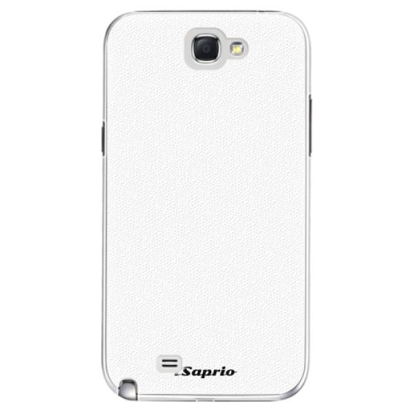 Plastové pouzdro iSaprio - 4Pure - bílý - Samsung Galaxy Note 2