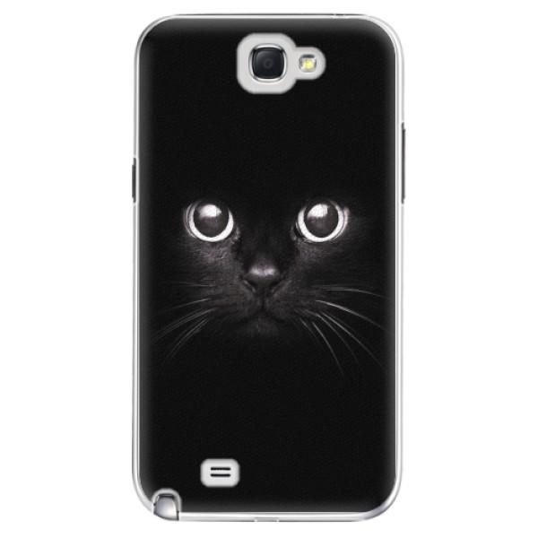 Plastové pouzdro iSaprio - Black Cat - Samsung Galaxy Note 2