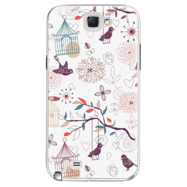 Plastové pouzdro iSaprio - Birds - Samsung Galaxy Note 2