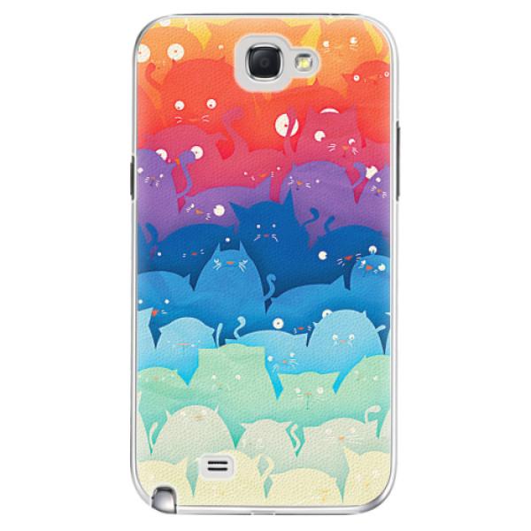 Plastové pouzdro iSaprio - Cats World - Samsung Galaxy Note 2