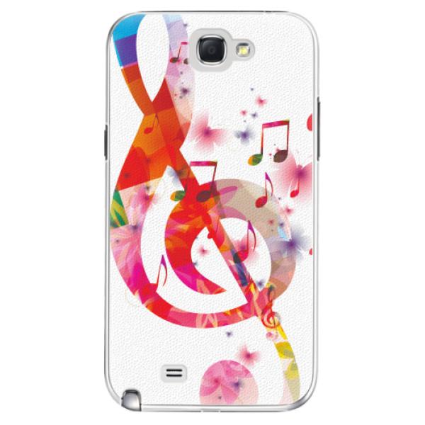 Plastové pouzdro iSaprio - Love Music - Samsung Galaxy Note 2
