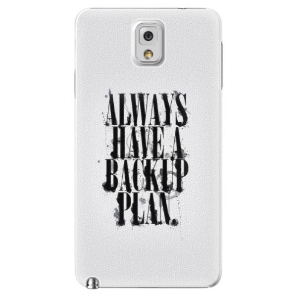 Plastové pouzdro iSaprio - Backup Plan - Samsung Galaxy Note 3
