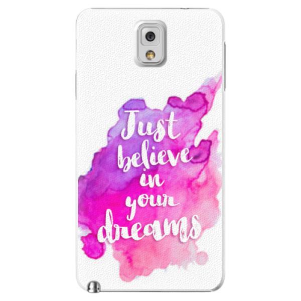 Plastové pouzdro iSaprio - Believe - Samsung Galaxy Note 3
