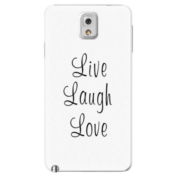 Plastové pouzdro iSaprio - Live Laugh Love - Samsung Galaxy Note 3