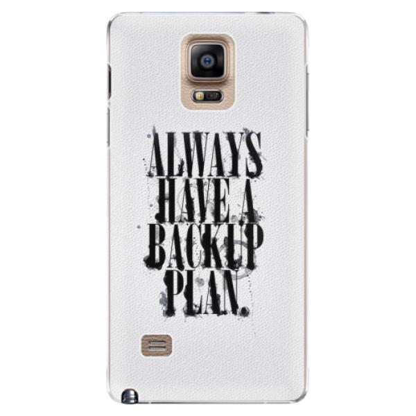 Plastové pouzdro iSaprio - Backup Plan - Samsung Galaxy Note 4
