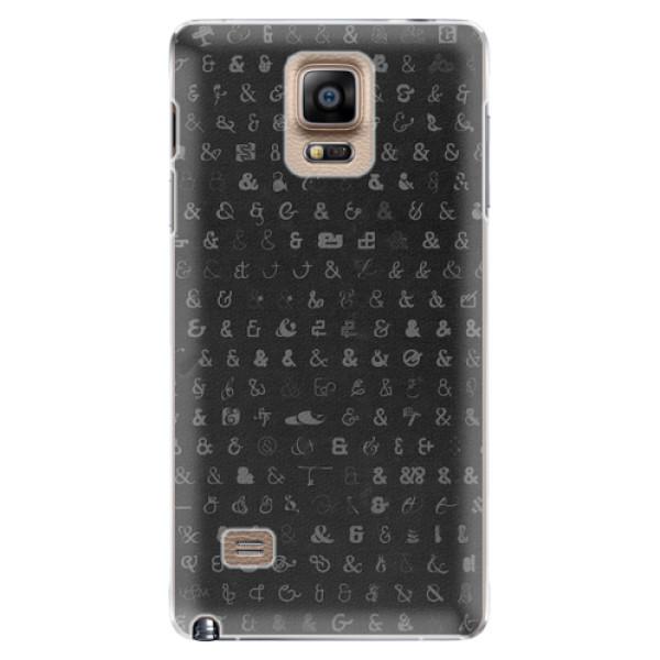 Plastové pouzdro iSaprio - Ampersand 01 - Samsung Galaxy Note 4