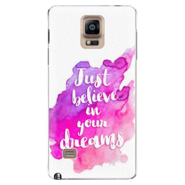Plastové pouzdro iSaprio - Believe - Samsung Galaxy Note 4