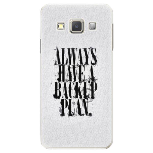 Plastové pouzdro iSaprio - Backup Plan - Samsung Galaxy A3