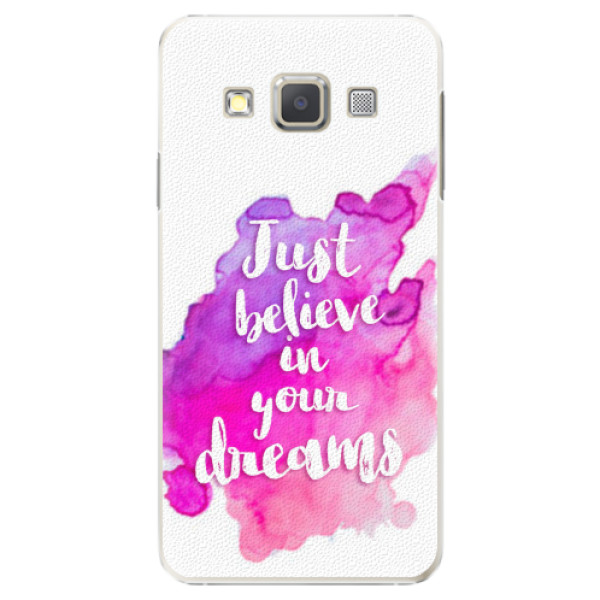 Plastové pouzdro iSaprio - Believe - Samsung Galaxy A3