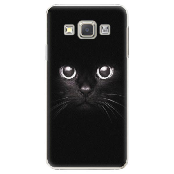 Plastové pouzdro iSaprio - Black Cat - Samsung Galaxy A3