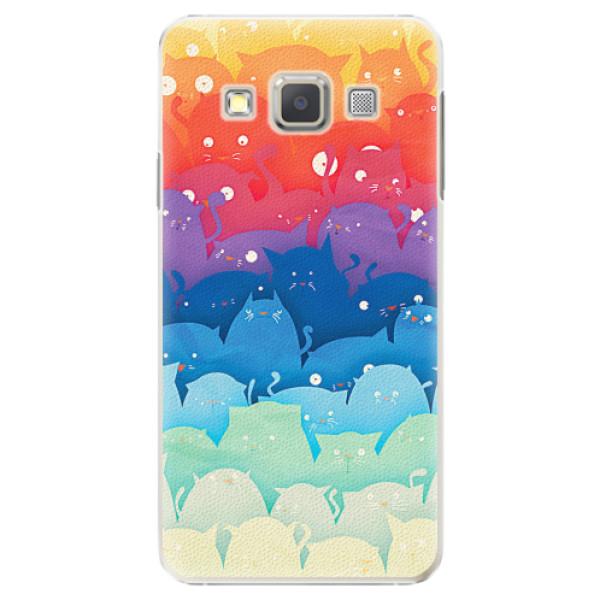 Plastové pouzdro iSaprio - Cats World - Samsung Galaxy A3