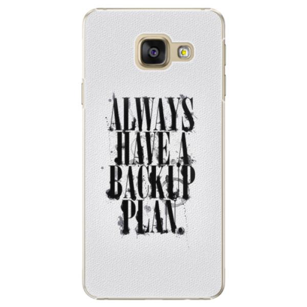 Plastové pouzdro iSaprio - Backup Plan - Samsung Galaxy A3 2016
