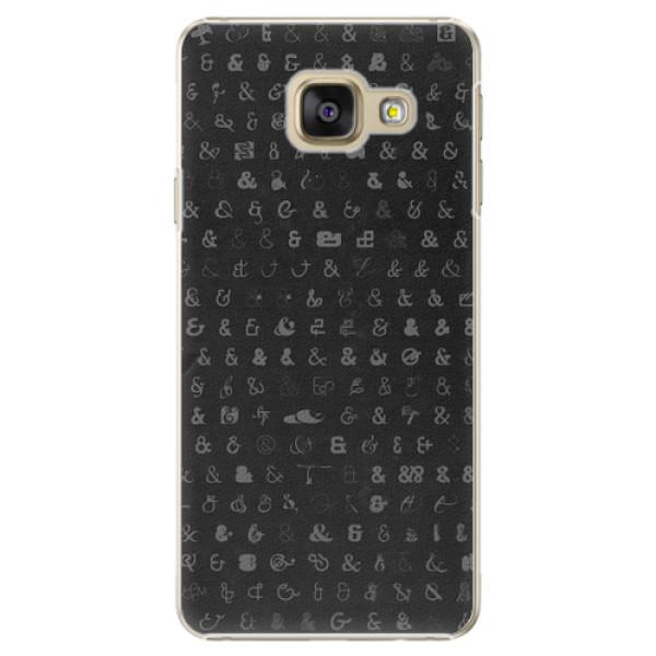 Plastové pouzdro iSaprio - Ampersand 01 - Samsung Galaxy A3 2016