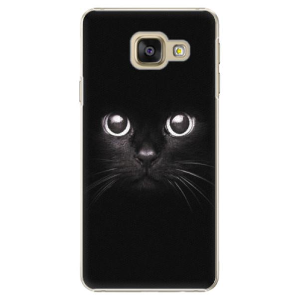 Plastové pouzdro iSaprio - Black Cat - Samsung Galaxy A3 2016