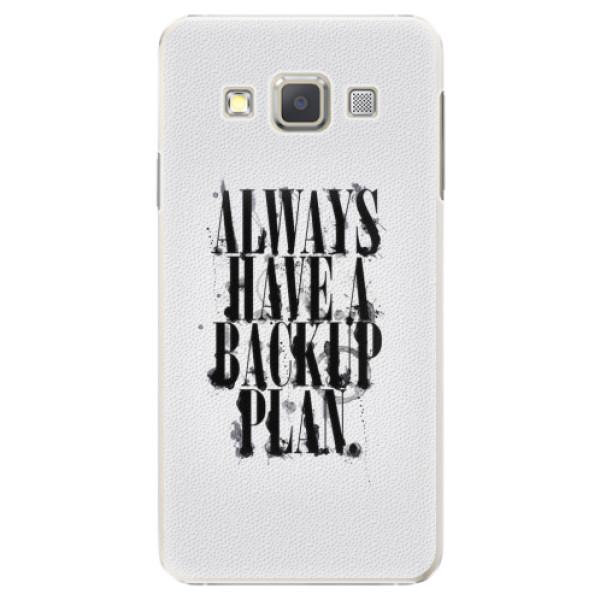 Plastové pouzdro iSaprio - Backup Plan - Samsung Galaxy A5