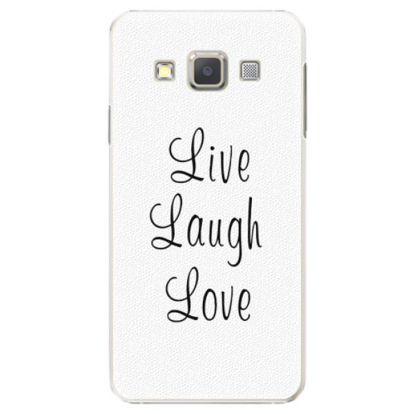 Plastové pouzdro iSaprio - Live Laugh Love - Samsung Galaxy A5
