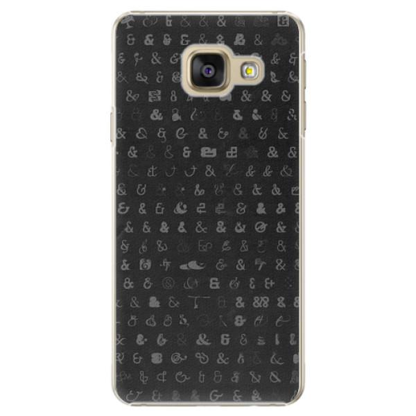 Plastové pouzdro iSaprio - Ampersand 01 - Samsung Galaxy A5 2016