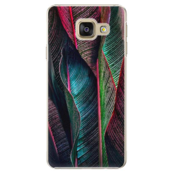 Plastové pouzdro iSaprio - Black Leaves - Samsung Galaxy A5 2016