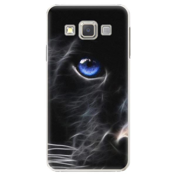 Plastové pouzdro iSaprio - Black Puma - Samsung Galaxy A7