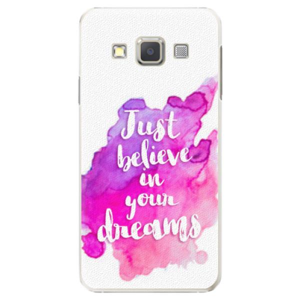 Plastové pouzdro iSaprio - Believe - Samsung Galaxy A7