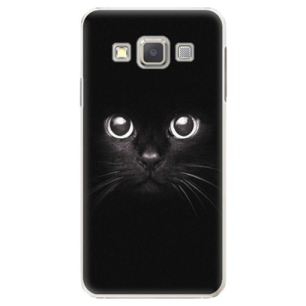 Plastové pouzdro iSaprio - Black Cat - Samsung Galaxy A7