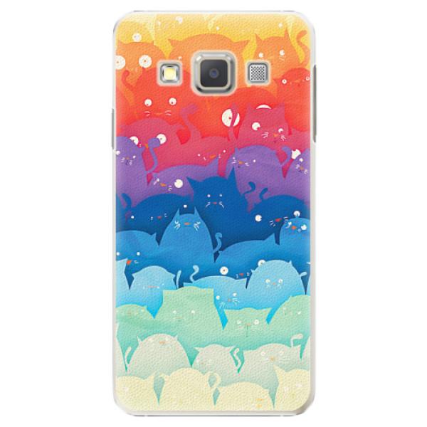 Plastové pouzdro iSaprio - Cats World - Samsung Galaxy A7
