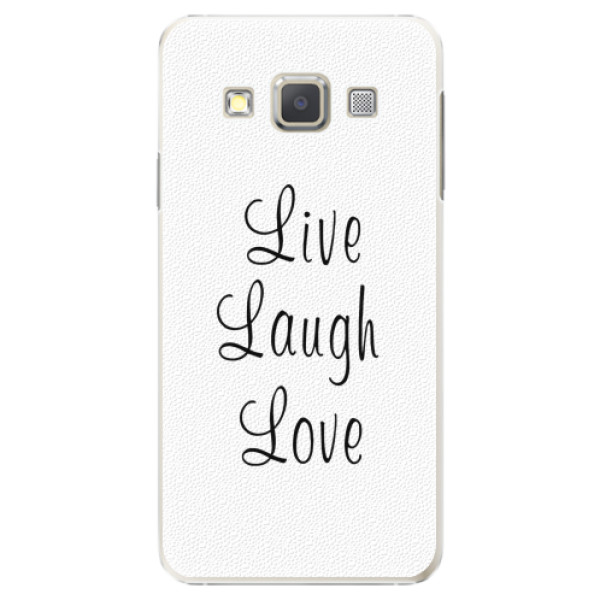 Plastové pouzdro iSaprio - Live Laugh Love - Samsung Galaxy A7
