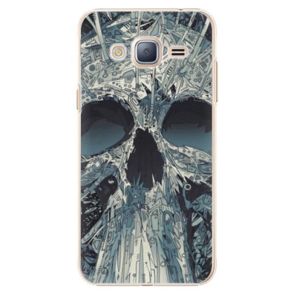 Plastové pouzdro iSaprio - Abstract Skull - Samsung Galaxy J3 2016