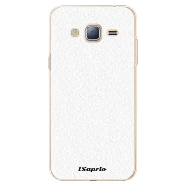 Plastové pouzdro iSaprio - 4Pure - bílý - Samsung Galaxy J3 2016