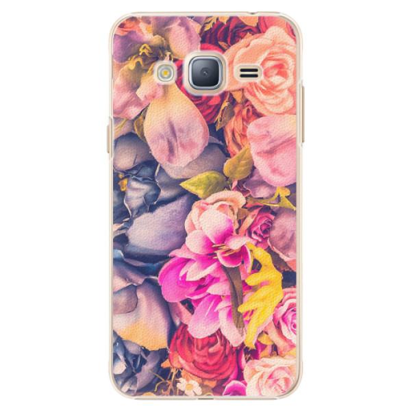 Plastové pouzdro iSaprio - Beauty Flowers - Samsung Galaxy J3 2016