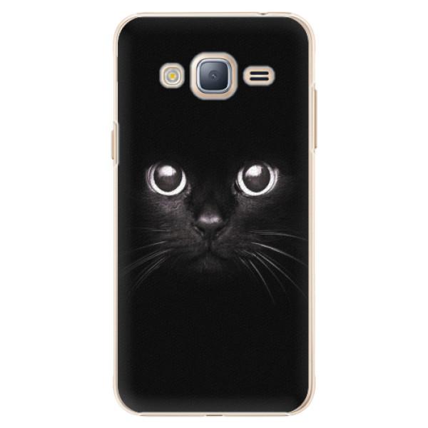 Plastové pouzdro iSaprio - Black Cat - Samsung Galaxy J3 2016