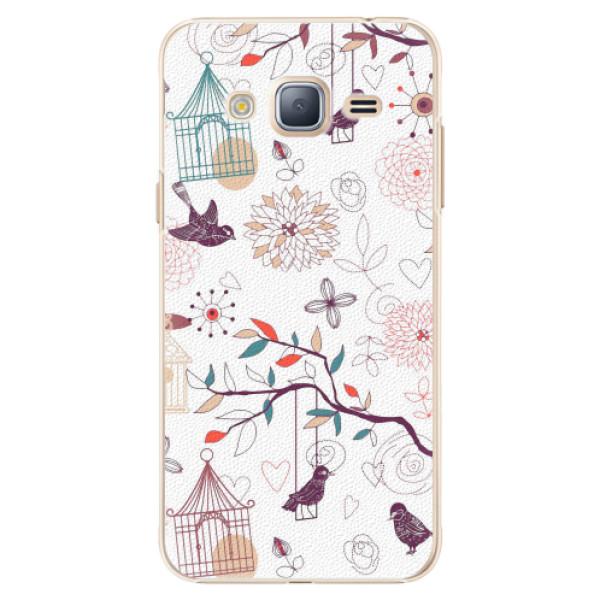 Plastové pouzdro iSaprio - Birds - Samsung Galaxy J3 2016