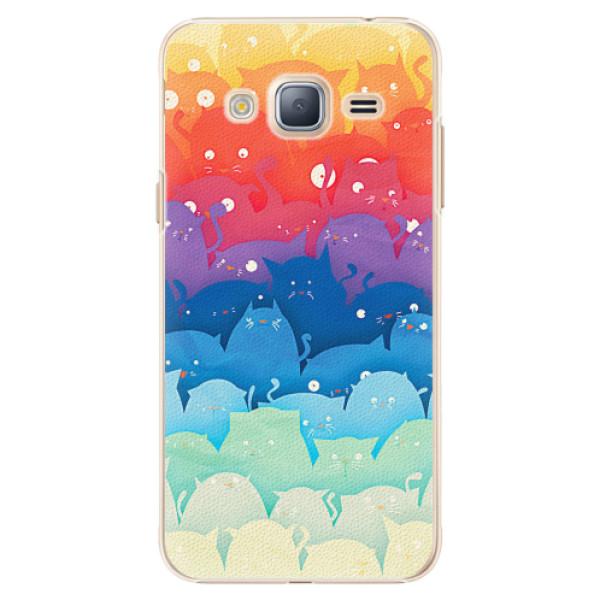 Plastové pouzdro iSaprio - Cats World - Samsung Galaxy J3 2016