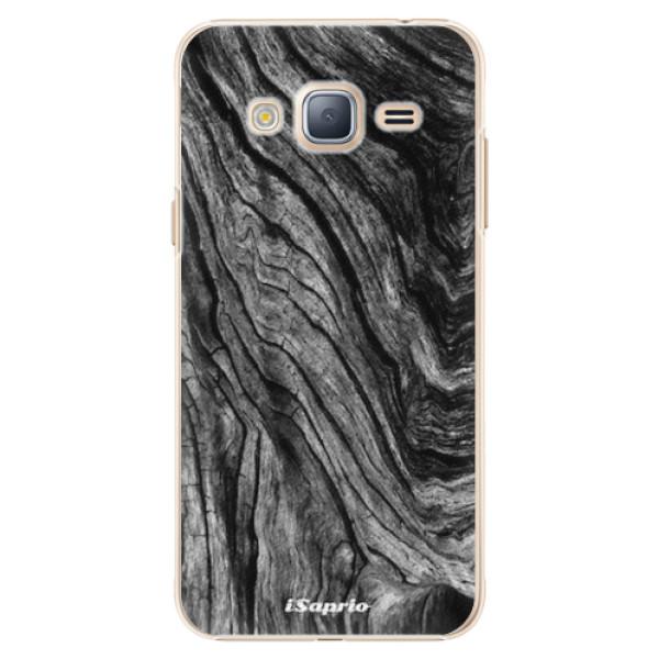 Plastové pouzdro iSaprio - Burned Wood - Samsung Galaxy J3 2016