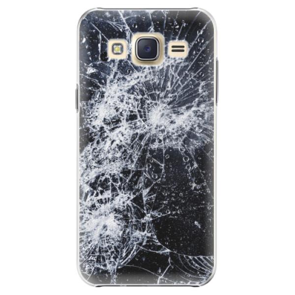 Plastové pouzdro iSaprio - Cracked - Samsung Galaxy J5