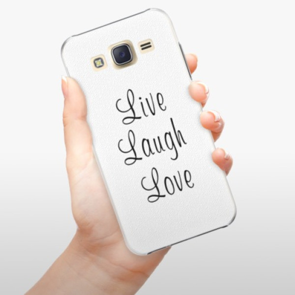 Plastové pouzdro iSaprio - Live Laugh Love - Samsung Galaxy J5
