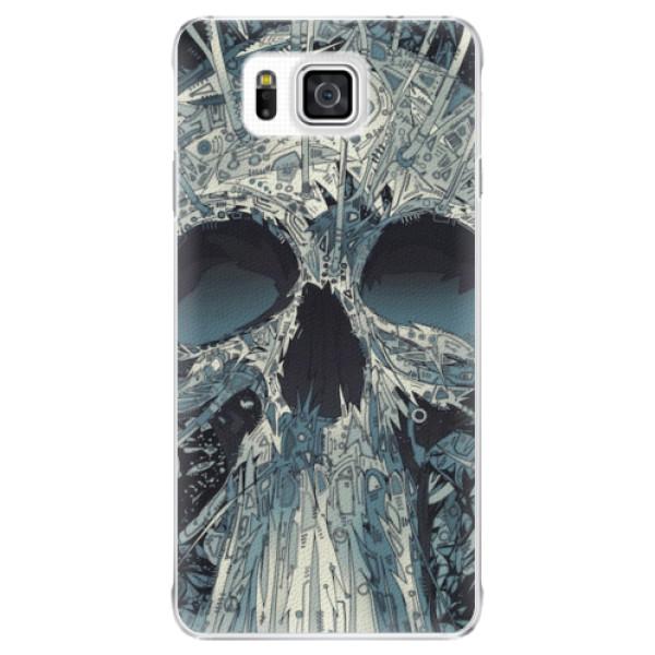 Plastové pouzdro iSaprio - Abstract Skull - Samsung Galaxy Alpha