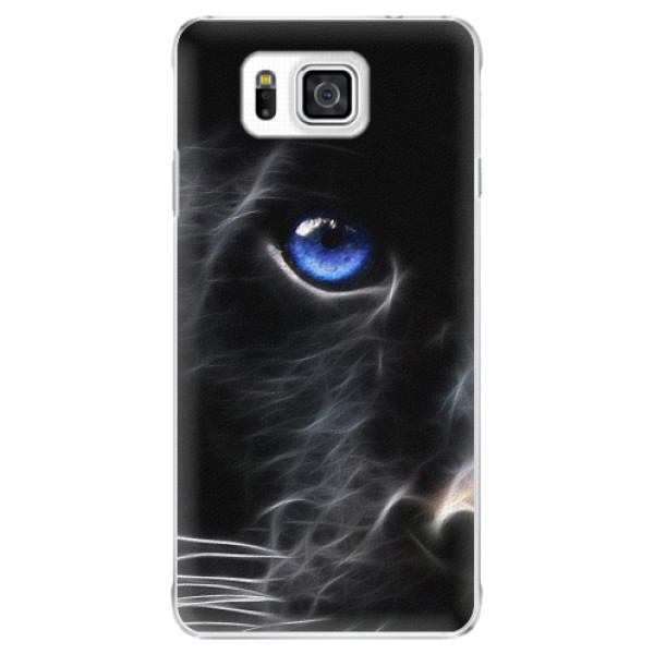 Plastové pouzdro iSaprio - Black Puma - Samsung Galaxy Alpha