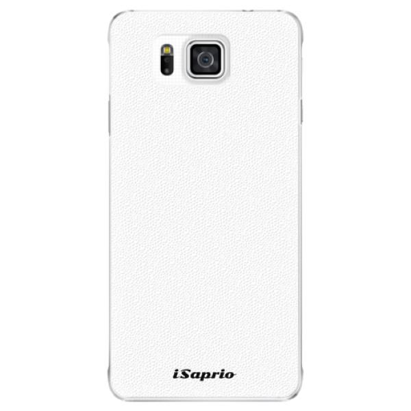 Plastové pouzdro iSaprio - 4Pure - bílý - Samsung Galaxy Alpha