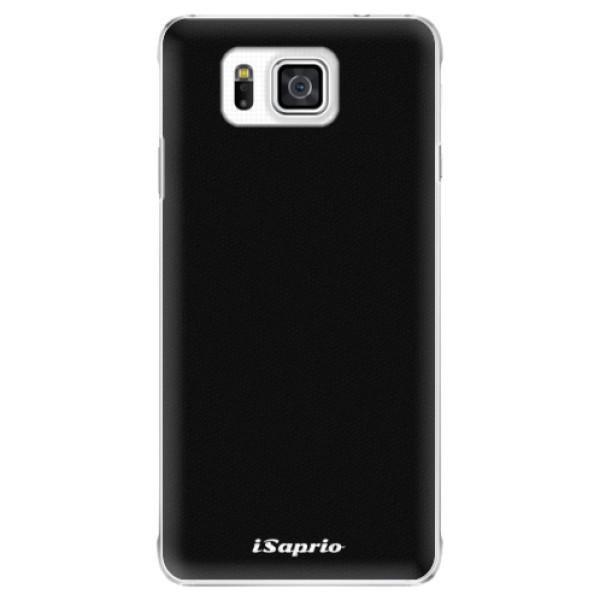 Plastové pouzdro iSaprio - 4Pure - černý - Samsung Galaxy Alpha