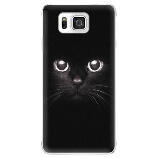 Plastové pouzdro iSaprio - Black Cat - Samsung Galaxy Alpha