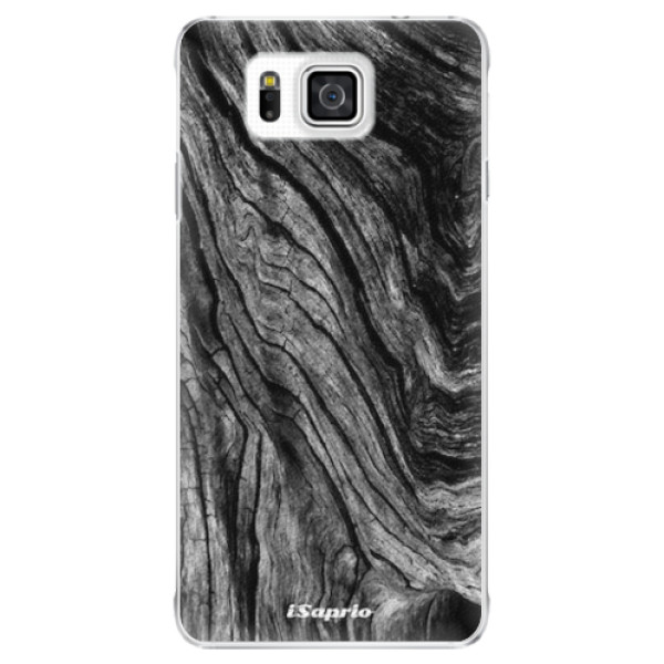 Plastové pouzdro iSaprio - Burned Wood - Samsung Galaxy Alpha