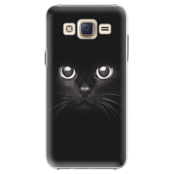 Plastové pouzdro iSaprio - Black Cat - Samsung Galaxy Core Prime