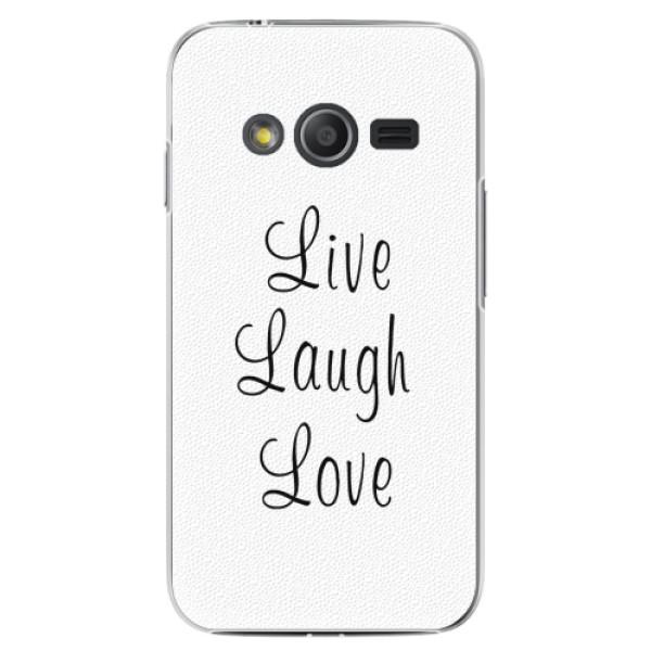 Plastové pouzdro iSaprio - Live Laugh Love - Samsung Galaxy Trend 2 Lite