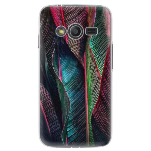 Plastové pouzdro iSaprio - Black Leaves - Samsung Galaxy Trend 2 Lite