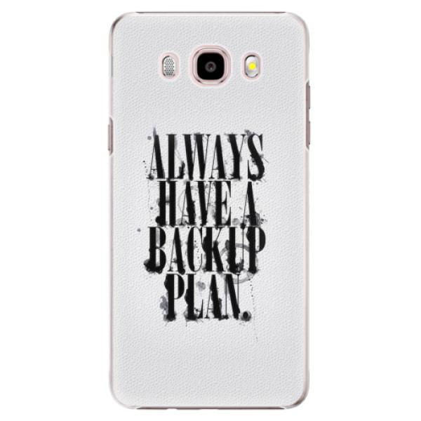 Plastové pouzdro iSaprio - Backup Plan - Samsung Galaxy J5 2016
