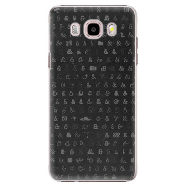 Plastové pouzdro iSaprio - Ampersand 01 - Samsung Galaxy J5 2016